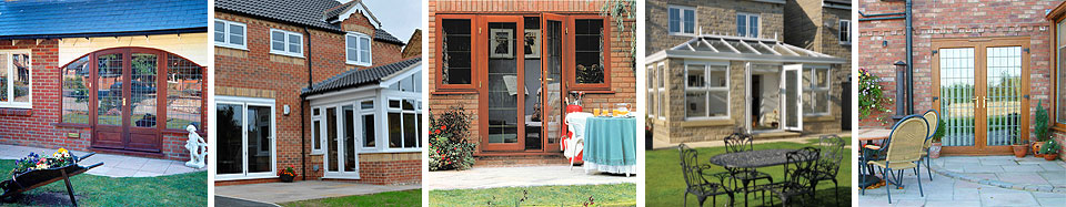 a selection of replacement French doors